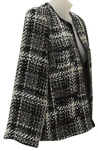 RD Style Rd Style Blackwhite Sequinmetallic Accent Plaid Tweed Jacket 110226pk
