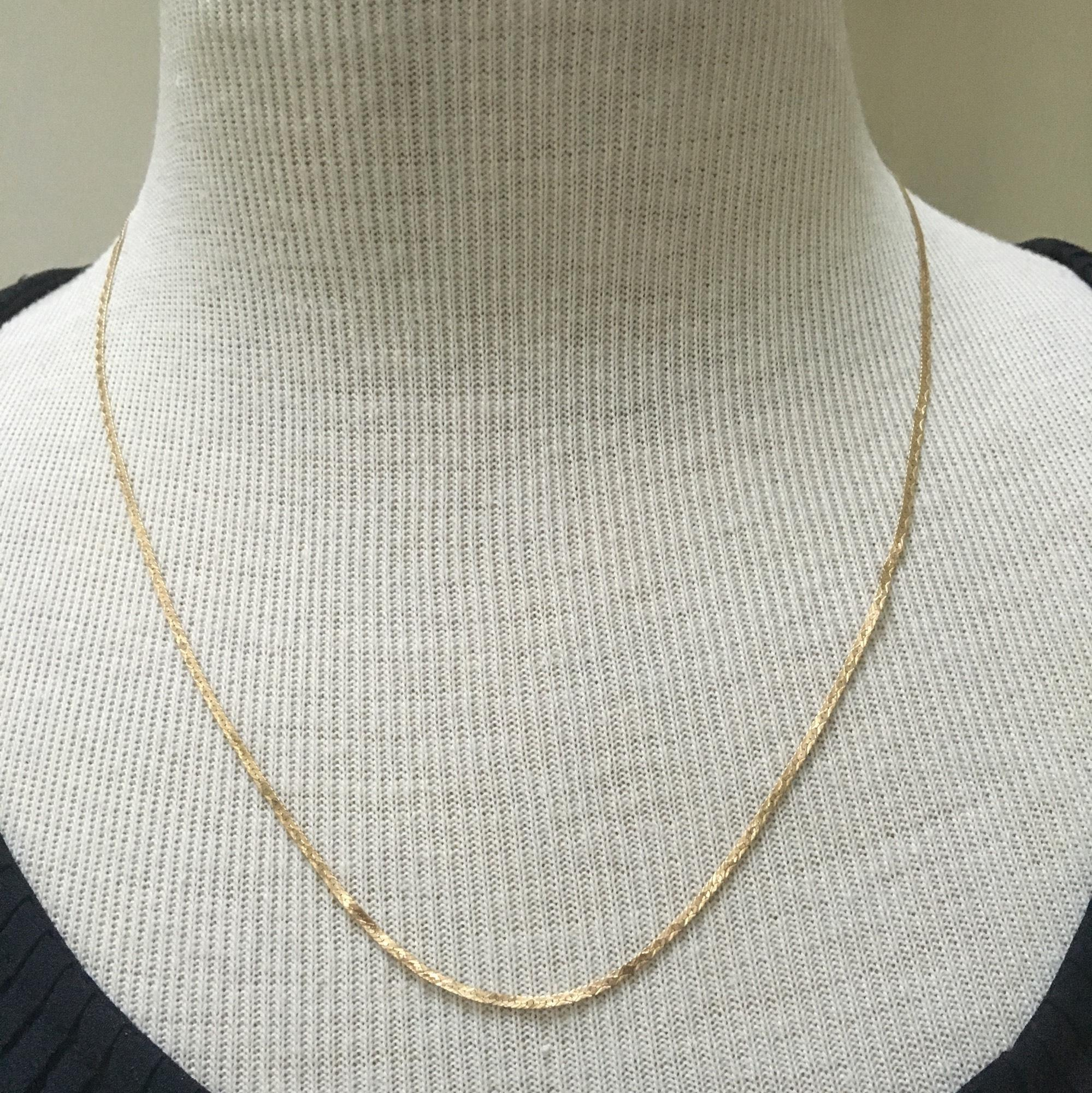 Real gold 14k yellow gold  necklce