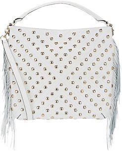 Rebecca Minkoff Leather Studded Tassels Hobo Long Strap Shoulder Bag