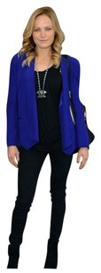 Rebecca Minkoff Long Becky Becky Navy Silk Blue Blazer