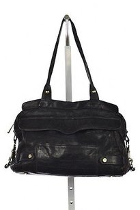 Rebecca Minkoff Womens Leather Handbag Satchel in Black