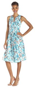 Rebecca Taylor short dress Blue Aloha Pleated on Tradesy