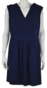 Rebecca Taylor Womens Textured Above Knee Sleeveless Sheath Dress