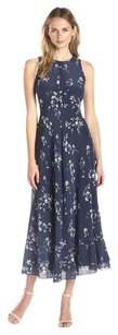 Navy Maxi Dress by Rebecca Taylor Sleeveless Silk Ruffled