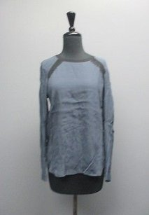 Rebecca Taylor Long Sleeved Casual Womens Crew Neck Sma1674 Top Blue