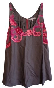 Rebecca Taylor Top Brown with Pink Design