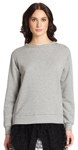 RED Valentino Terry Tulle Tunic Knit Sweatshirt