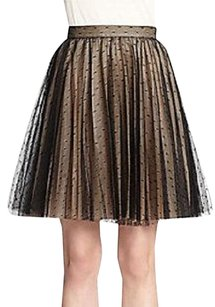 RED Valentino A Line Tule Ostrich Sale Skirt black