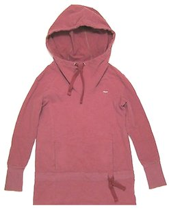 Reebok Sample Womens Reebok Stretch Tunic Hoodie W Scuba Hood Rose Pink