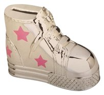 REED AND BARTON REED AND BARTON GIRLS' PINK ALL STAR SILVER-PLATED BANK