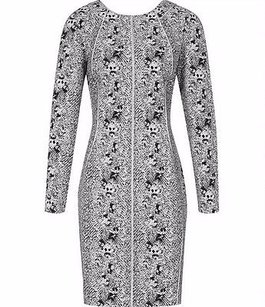 Reiss Snake Print Piped Dress