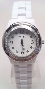 Relic Relic By Fossil Bella White Dial Resin Quartz Ladies Watch Zr11898