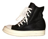 Rick Owens Ramones Shearling Leather Black Boots
