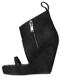 Rick Owens Black Wedges