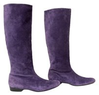 Robert Clergerie Leather Purple Boots