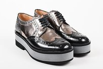Robert Clergerie Black Pewter Black, Pewter, Gray Flats