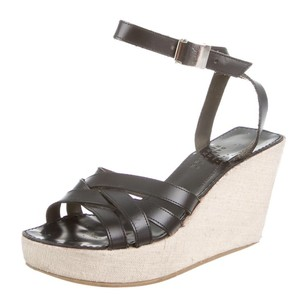 Robert Clergerie Sandals Platform Black Wedges