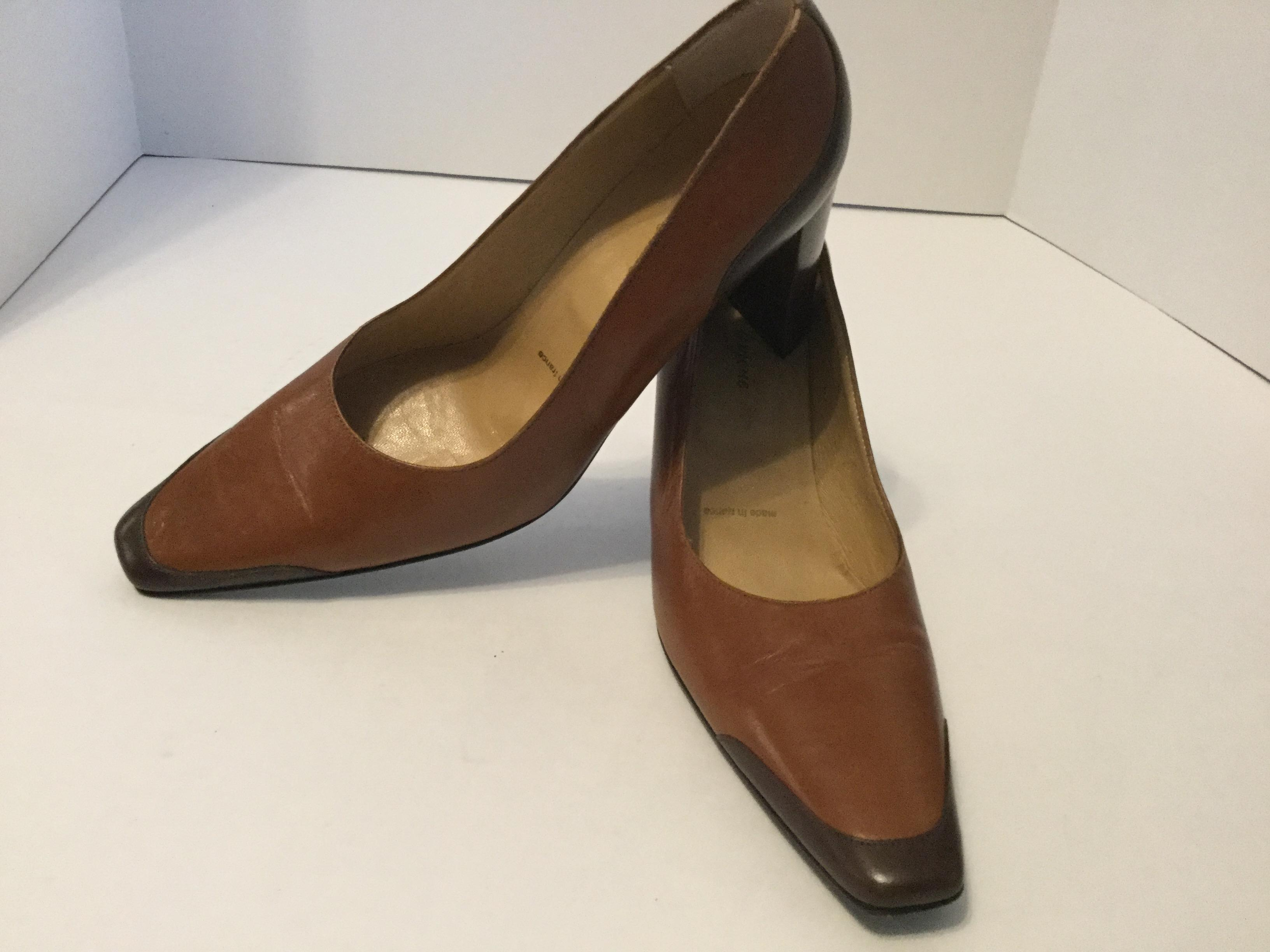 Robert Clergerie Leather Square-Toe Pumps cheap sale high quality for sale cheap price get authentic for sale fake cheap price NtZhtTtU