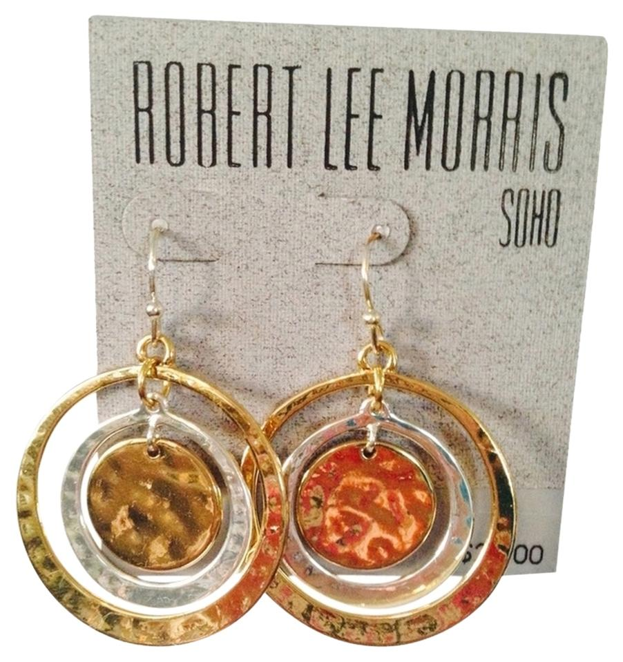 robert morris jewelry two tone wrapped hammered robert morris silver gold two tone hammered circle