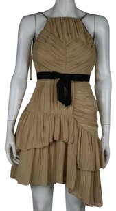 Robert Rodriguez Womens Color Block Tiered 0 Knee Length Sheath Dress