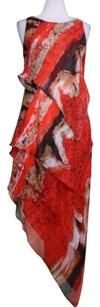 Robert Rodriguez Womens Printed Silk Party Dress