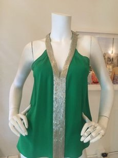 Robert Rodriguez Sequin Sz 2 Top Green