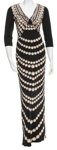 Black, Ivory, Gold, White Maxi Dress by Roberto Cavalli Black Ivory Gold Pearl