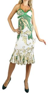 green, beige, white, gold Maxi Dress by Roberto Cavalli