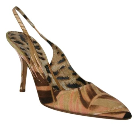 Roberto Cavalli Satin Slingback Pumps popular for sale f3FlqfH