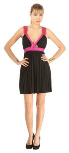 Roberto Cavalli short dress Black Pleated Size 10 on Tradesy