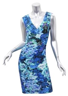 Roberto Cavalli Womens Floral Sleeveless Sheath 384 Dress