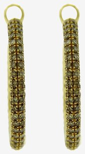 Roberto Coin Roberto Coin 18K Yellow Gold Champagne Diamond Hoop Earrings