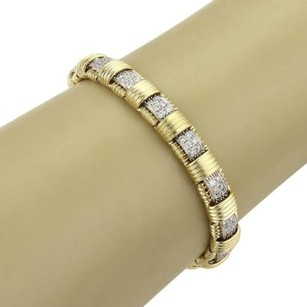 Roberto Coin Roberto Coin Appassionata 18k Yellow Gold 2.30ct Diamonds Single Row Bracelet