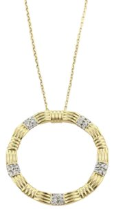 Roberto Coin Roberto Coin Appass Diamonds 18k Ygold Circle Pendant Necklace