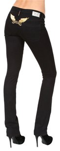 Robin's Jean Stretchy Gold Straight Leg Jeans-Dark Rinse