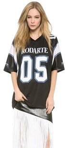 Rodarte Sports Jersey Top Black