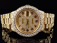 Rolex 18k Yellow Gold Mens Rolex Presidential Day-date Diamond Bezel Watch 19 Ct