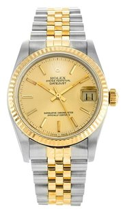Rolex 18K/SS Mid-Size Datejust Two Tone 31mm Mens Watch