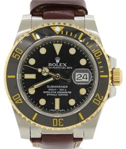Rolex 2013 Rolex Submariner 116613 Steel 18k Gold Black Ceramic Watch