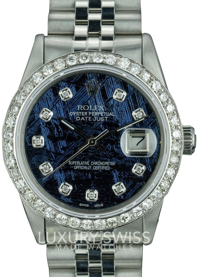 ref bezel itm authentic miami rolex club datejust case timeless watch this presents diamond dial features stainless watches classically distinct steel original