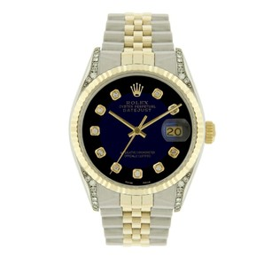 Rolex Rolex Men's Datejust Two-Tone 36mm Diamond Dial/Diamond Lugs
