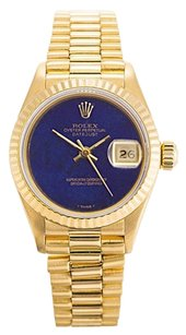 Rolex Datejust 18K Yellow Gold Blue Onyx dial Ladies Watch