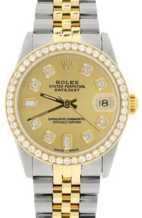 Rolex Rolex Datejust 2-Tone 31mm Womens Watch Champagne Diamond Dial & Bezel