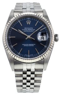 Rolex DateJust Stainless Steel 16234 36mm Jubilee Bracelet Men's Watch RLXGS142