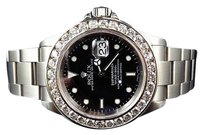 Rolex Excellent Mens Rolex Sumbariner 40mm Stainless Steel Vs Diamond Watch Ct