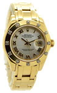 Rolex Rolex DateJust Pearlmaster 80318 18K Yellow Gold Diamond Ladies Watch