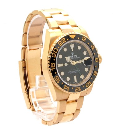Rolex Rolex GMT Master II 18K Yellow Gold Black Dial Men's Watch