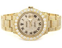 Rolex Gold Stainless Steel Rolex Datejust Oyster Mm Dial Diamond Watch With Ct