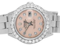 Rolex Ladies 26MM Rolex Datejust Oyster Pink Dial Diamond Watch 2.5 Ct
