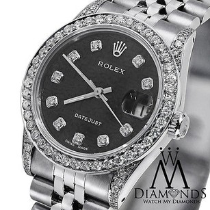 Rolex Ladies Rolex Datejust Mm Black Dial Jubilee Bracelet Diamond Bezel 79160